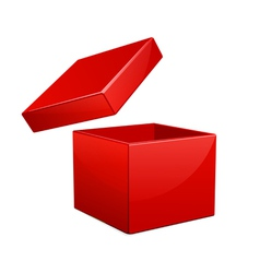 Open red gift box vector