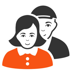People couple icon vector