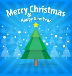 Pine tree and snow theme merry christmas and vector