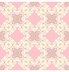 pink tiled seamless pattern vector image vector image