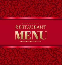 Red restaurant menu vector