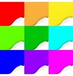 Set of Curled Colorful Paper Square Sheets vector image vector image