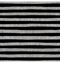 Silver textured seamless pattern of stripes vector image vector image