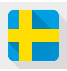 Simple flat icon sweden flag vector