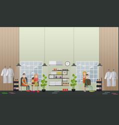 Spa salon services concept flat vector