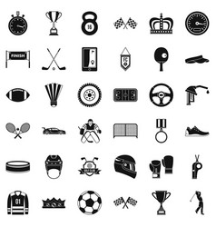 Sport award icons set simple style vector