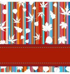 Stripes maple leaves vector