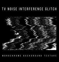 Television interference glitch vector