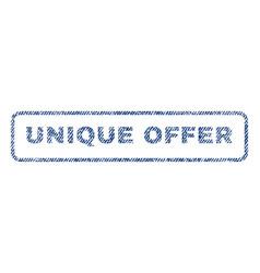 unique offer textile stamp vector image