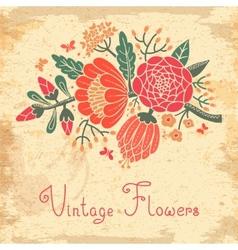 Vintage flowers Cute flower for design vector image vector image