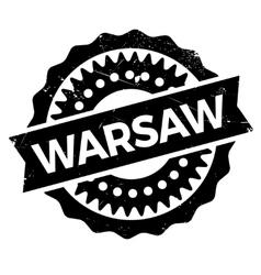 Warsaw stamp rubber grunge vector