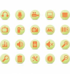web icons round orange vector image vector image