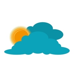 Cloud sun weather sky vector