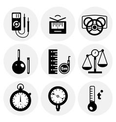 Black measurement icons vector