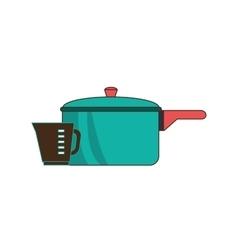 Kitchen pot utensil vector