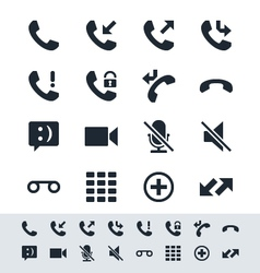 Telephone icon simplicity theme vector image