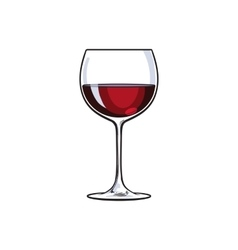 Red wine glass sketch vector image