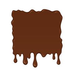 - brown splash liquid vector image