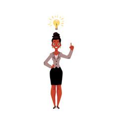 Black african american businesswoman having idea vector