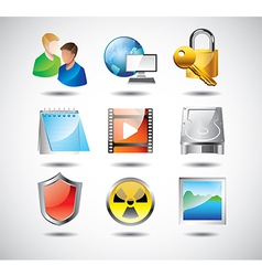 Icons operationsystem tools vector