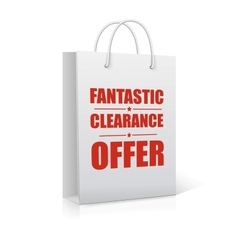Fantastic clearance offer shopping bag vector