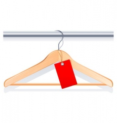 clothing hanger vector image