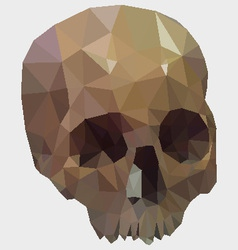Low poly skull vector