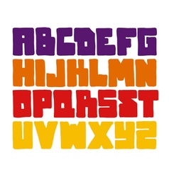 Hand drawn graffiti font alphabet vector