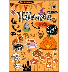 Halloween decor vector