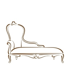 Sketched sofa vector