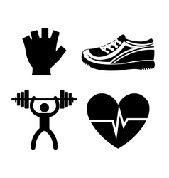 Fitness healthy lifestyle graphic design vector