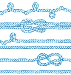Engraved ropes and knots vector
