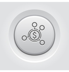 Money distribution icon vector