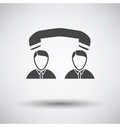 Telephone conversation icon vector