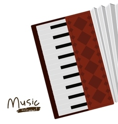 Accordion instrument isolated icon design vector