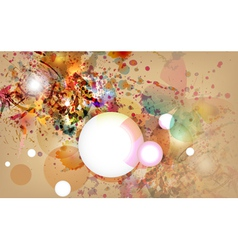 Abstract background with grunge design vector image