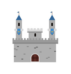 ancient fortification castle medieval vector image