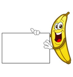 banana cartoon vector image