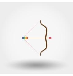 Bow and arrow toy vector