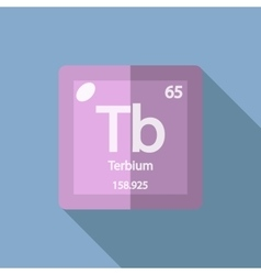 Chemical element terbium flat vector