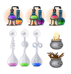chemical laboratory experiments boiling of liquids vector image