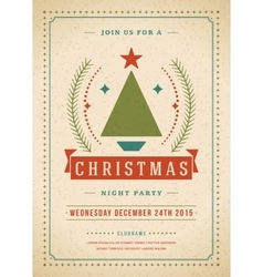 Christmas party invitation retro typography and vector image vector image