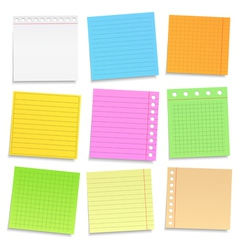 Colored Paper Notes vector image vector image