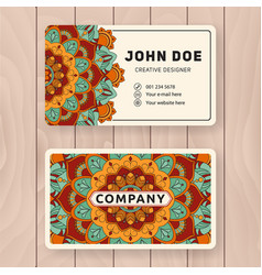 Creative useful business name card design vector