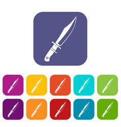 Dagger icons set flat vector