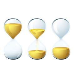 egg timer vector image vector image