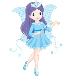 fairy winter vector image vector image