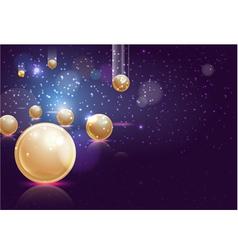 falling pearls vector image
