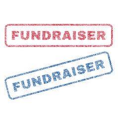 Fundraiser textile stamps vector