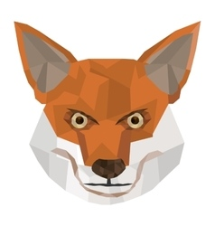 Geometric texture fox icon vector